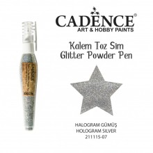 glitter pen hollogram silver