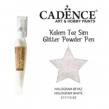 glitter pen hollogram white
