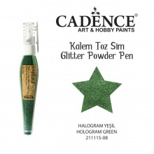 glitter pen hollogram green