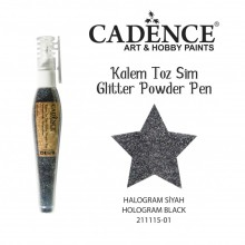 glitter pen hollogram black