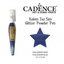 glitter pen hollogram blue