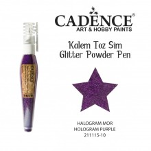 glitter pen hollogram purple