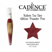 glitter pen hollogram red